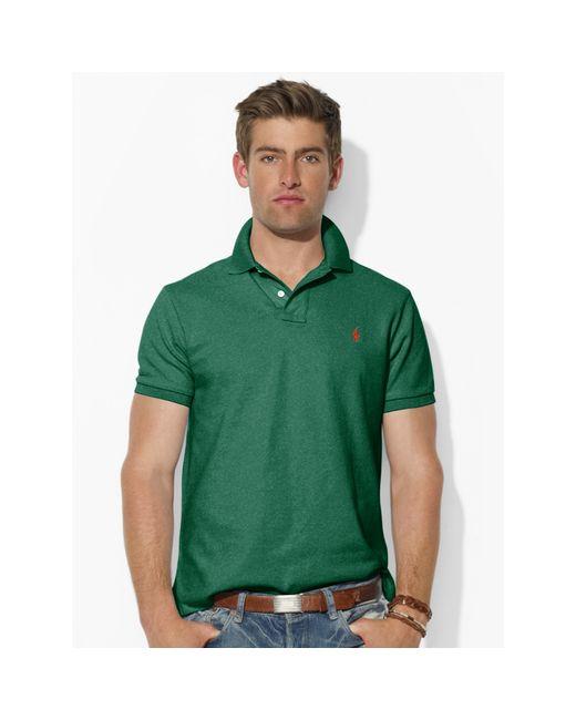 Polo Ralph Lauren   Green Custom-fit Mesh Polo Shirt for Men   Lyst