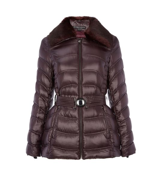 Dawn Levy | Purple Detachable Faux Fur Collar Jacket | Lyst