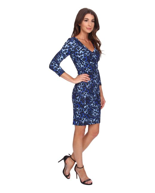 NYDJ   Blue Monique Cheetah Print Dress   Lyst