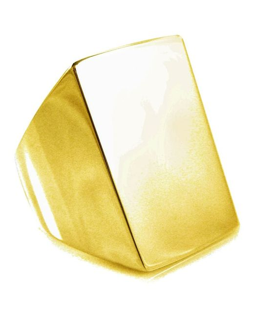 Tom Binns | Metallic 'clash' Signet Ring | Lyst
