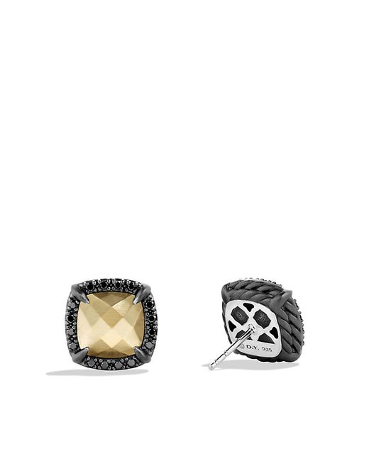 David Yurman | Natural Châtelaine Earrings With 18k Gold Dome And Black Diamonds | Lyst