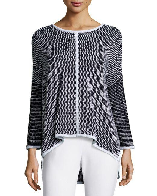 Belford | Black Long-sleeve Oversized Pullover W/ Trim | Lyst
