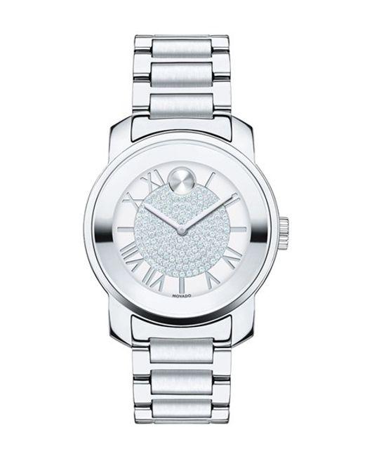 Movado | Metallic 'bold' Crystal Dial Bracelet Watch | Lyst
