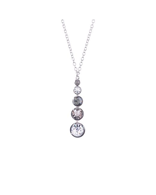 Karen Millen | Metallic Swarovski Teardrop Pendant Necklace | Lyst