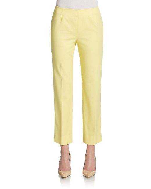 Lafayette 148 New York | Natural Cropped Bleeker Pants | Lyst