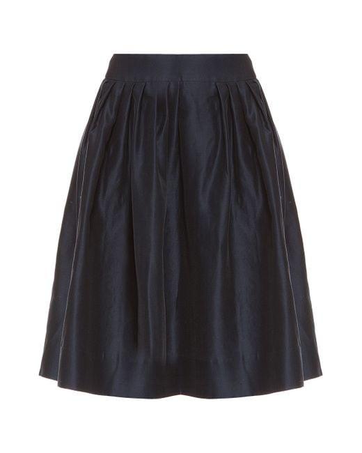 Martin Grant | Blue Pleated Bell Skirt | Lyst