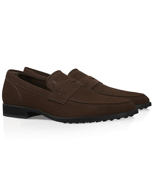 Tod's | Brown Suede Loafers for Men | Lyst