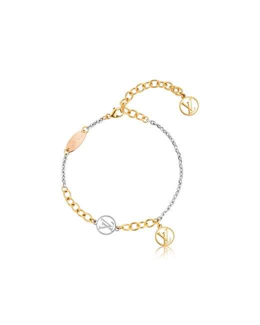 Louis Vuitton | Metallic Logomania Bracelet | Lyst