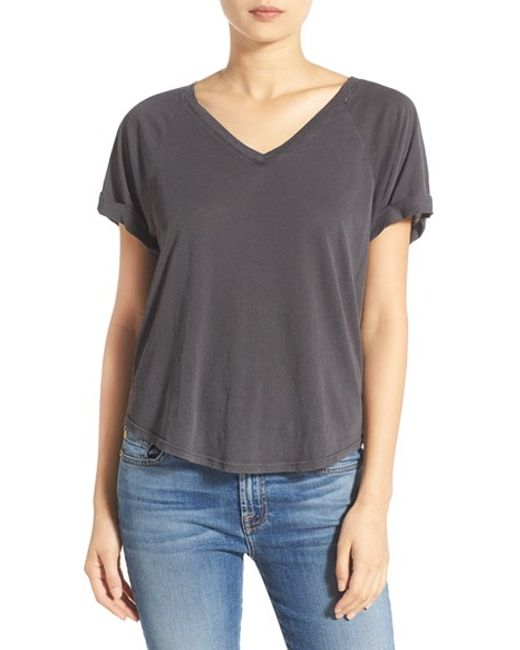 Majestic Filatures Double Layer V Neck Tee $72 $ Get a Sale Alert Free Ship + Free Returns at Nordstrom Nordstrom Project Social T Carina Double-V Tee $48 Get a Sale Alert at COS Stores Cos WIDE V-NECK T-SHIRT $35 Get a Sale Alert Free.