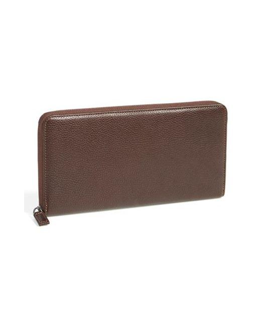 Boconi | Brown 'tyler' Rfid Protected Traveler Wallet for Men | Lyst