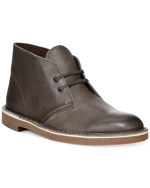 clarks s bushacre 2 chukka boots in gray for grey