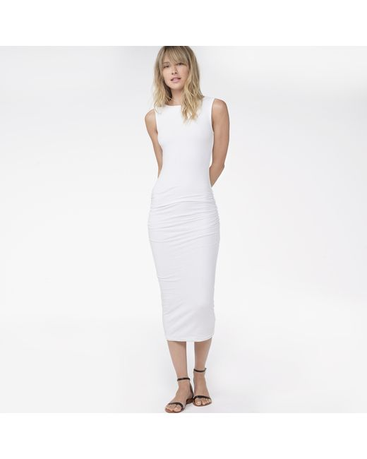 James Perse | White Open Back Skinny Dress | Lyst