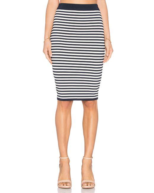 egrey striped midi skirt in blue white navy blue