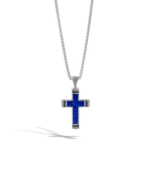 John Hardy | Blue Classic Chain Cross Pendant for Men | Lyst