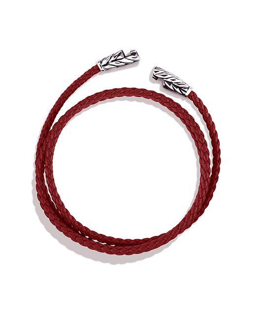 David Yurman | Chevron Triple-wrap Bracelet In Red for Men | Lyst
