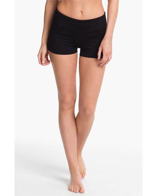 Zella | Black 'haute' Compression Shorts | Lyst
