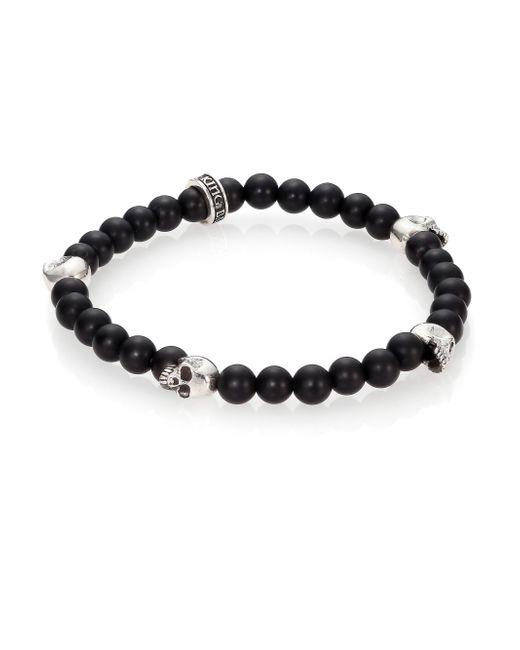 King Baby Studio   Black Onyx Beaded Bracelet for Men   Lyst