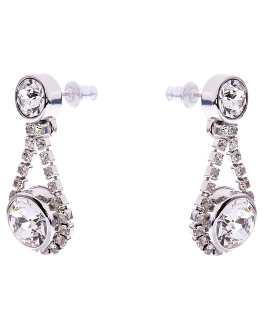 Ted Baker | Metallic Stormm Swarovski Crystal Drop Earrings | Lyst