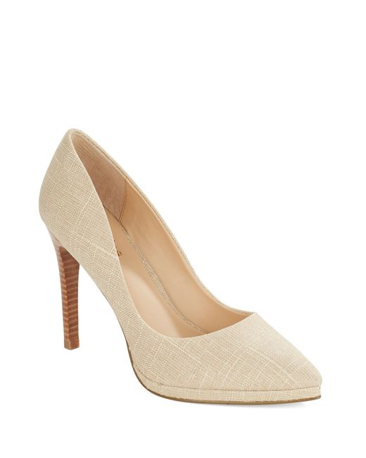 Charles by Charles David   Brown Plateau Stacked Stiletto Platform Pumps   Lyst