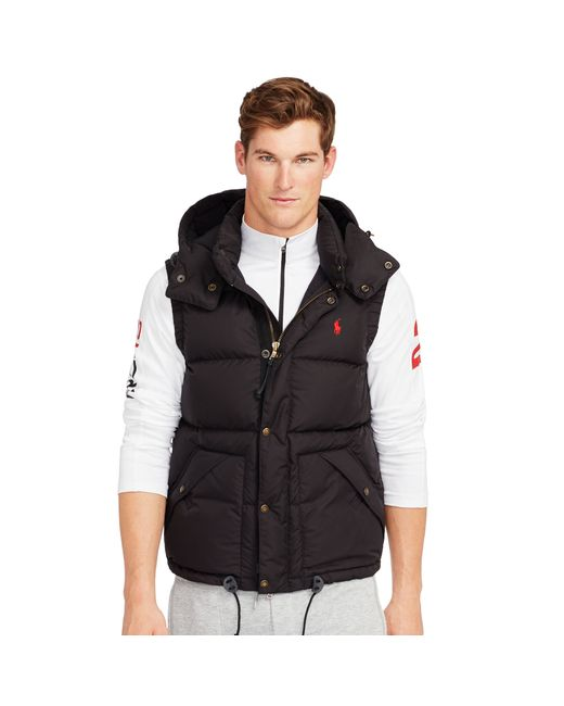 Polo Ralph Lauren | Black Down Vest for Men | Lyst