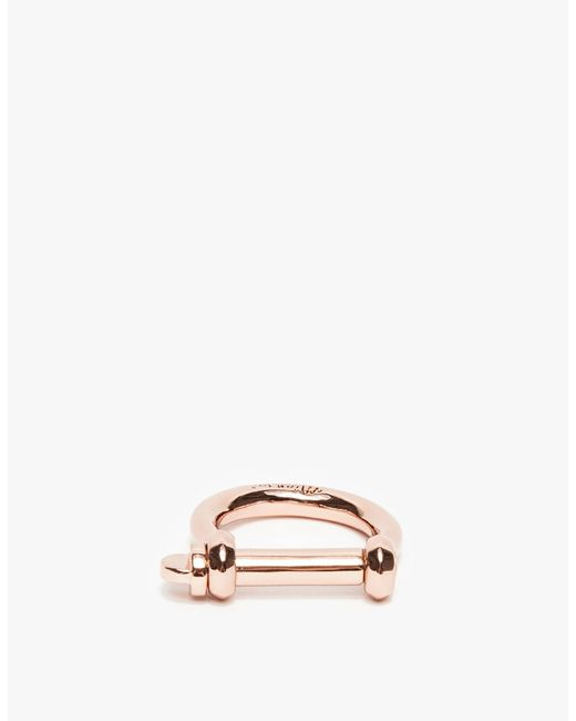 Miansai | Pink Rose Gold Screw Ring | Lyst