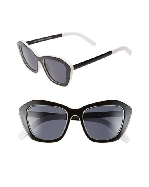 Le Specs | Black 'hollywood Blvd.' 52mm Cat Eye Sunglasses | Lyst