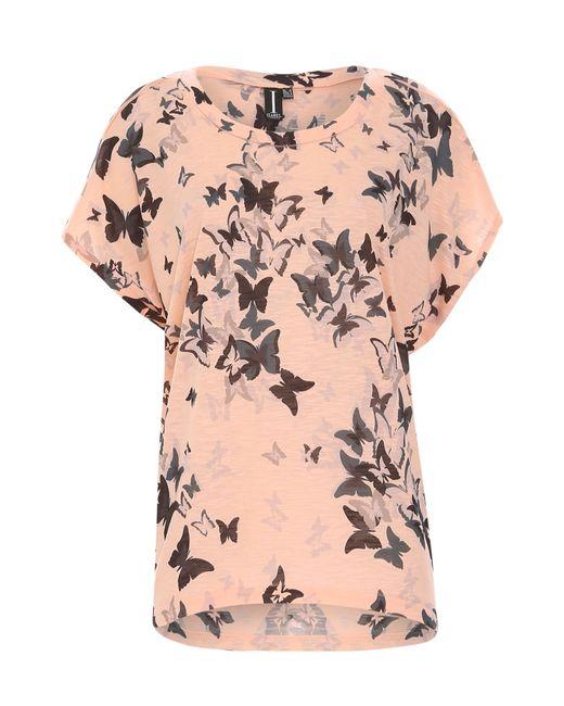 Izabel London   Pink Oversized Butterfly Print Top   Lyst