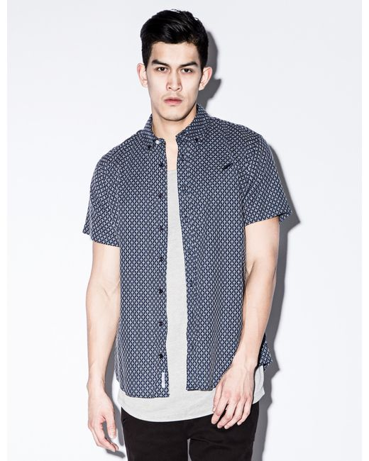 Timberland Navy Franklin Button Up Shirt In Blue For Men