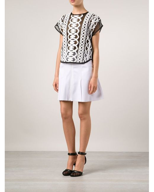 ktz pleated mini skirt in white save 60 lyst