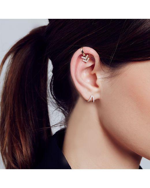 Carbon & Hyde | Metallic Chevron Ear Cuff | Lyst