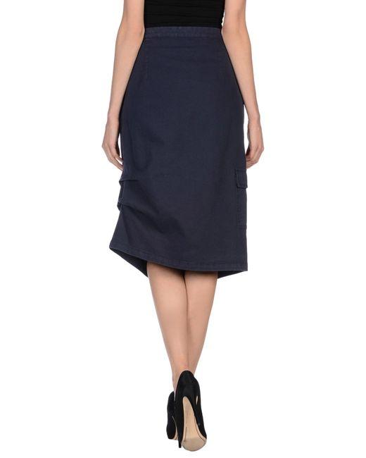 manila grace denim skirt in purple purple save 80