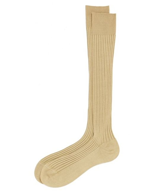 Pantherella | Natural Cotton Lisle Blend Over The Calf Socks for Men | Lyst