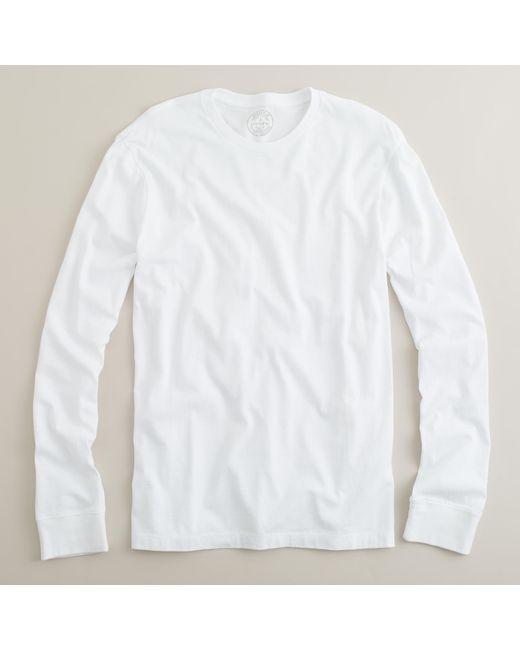 J.Crew | White Slim Broken-in Long-sleeve T-shirt for Men | Lyst