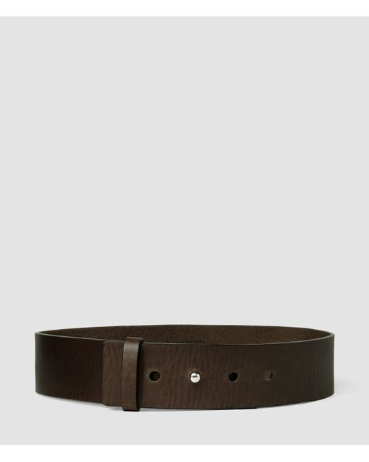 AllSaints | Brown Mimosa Leather Waist Belt | Lyst