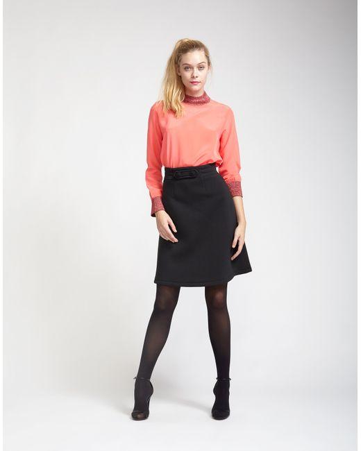 cynthia rowley knit knee length skirt in black lyst