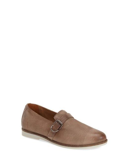 Olukai | Brown Haili Buckled-Leather Flats  | Lyst