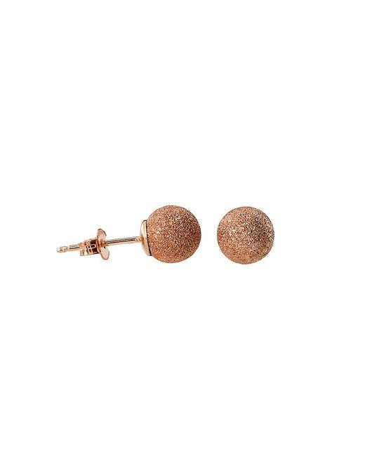 Azendi | Metallic Rose Gold Vermeil Stardust Ball Stud Earrings | Lyst