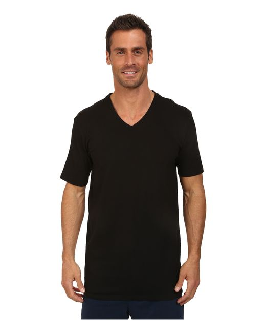 Lacoste | Black Pique Lounge Short Sleeve Pique for Men | Lyst