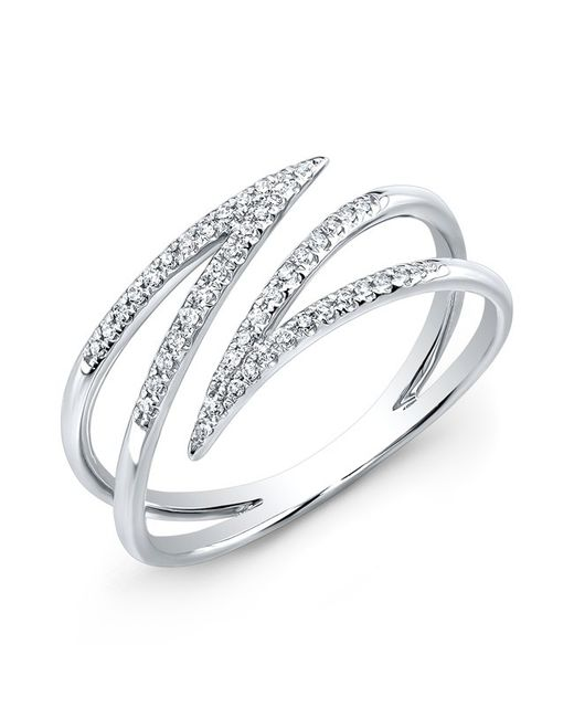 Anne Sisteron - Metallic 14kt White Gold Diamond Spike Wrap Ring - Lyst