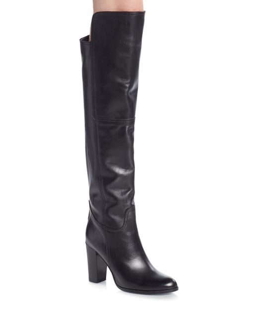 Saks Fifth Avenue | Black Leather Over-the-knee Boots | Lyst