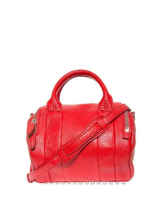 Alexander Wang   Pink Mini Rockie In Pebbled Cult With Rhodium   Lyst