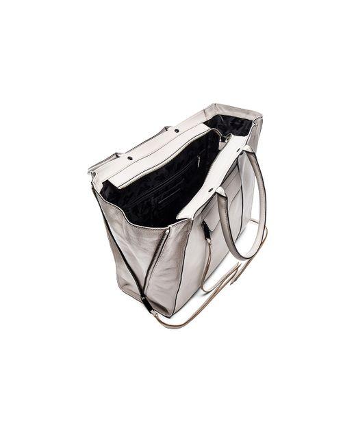 Rebecca Minkoff Side Zip Medium Mab Tote Bag In Gray Lyst