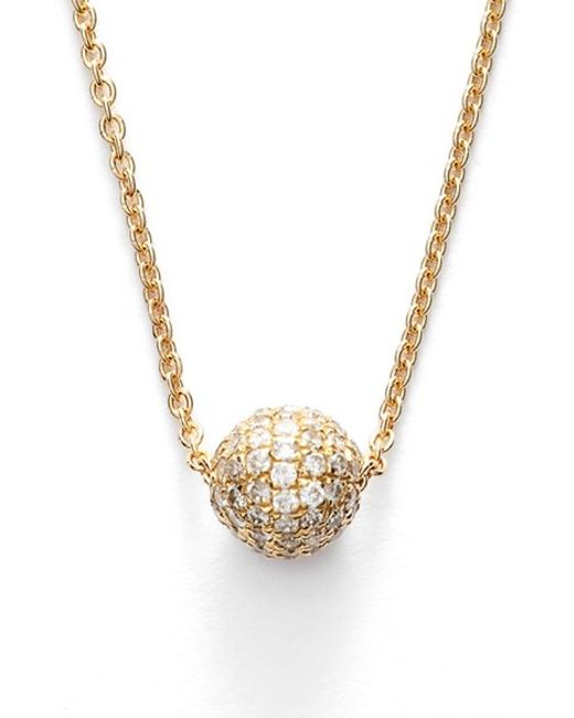 Bony Levy | Yellow Small Diamond Pave Ball Pendant Necklace (limited Edition) (nordstrom Exclusive) | Lyst