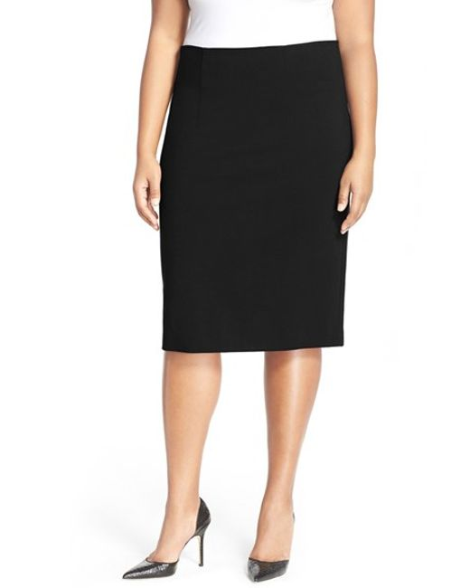 tracy black high waist pencil skirt lyst