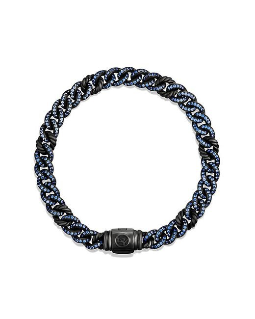 David Yurman | Petite Pavé Curb Link Bracelet With Blue Sapphires | Lyst