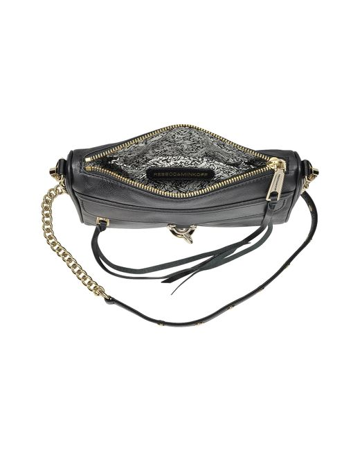 Rebecca Minkoff | Black Leather Mini Mac Crossbody Bag | Lyst