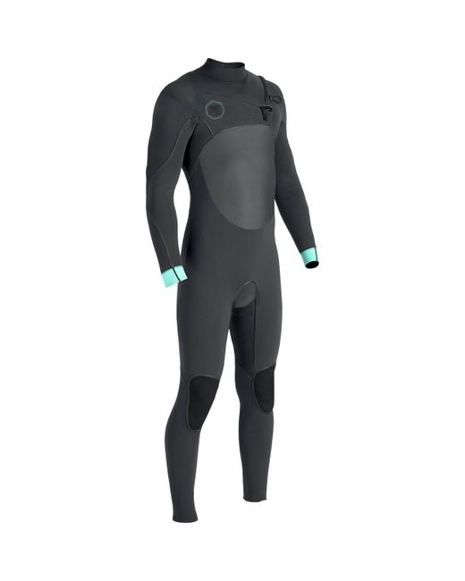Vissla Gray The North Seas 4/3 Chest Zip Long-sleeve Wetsuit for men