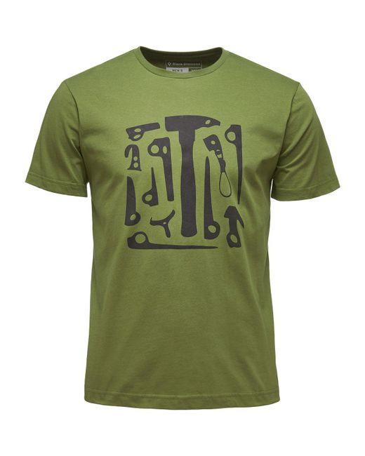 Black Diamond - Green Big Wall Tool T-shirt - Short-sleeve for Men - Lyst