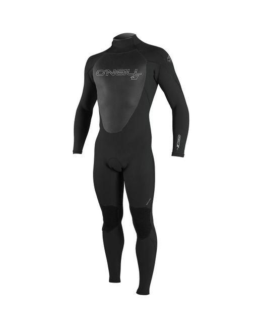 O'neill Sportswear Black Epic 4/3 Back-zip Full Wetsuit for men