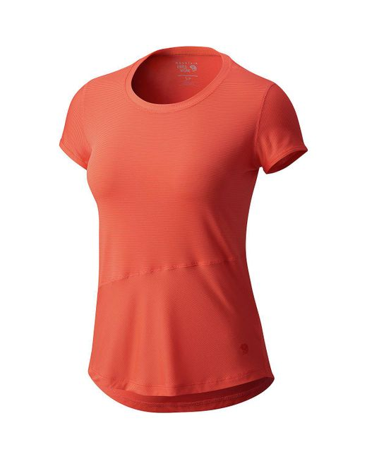 Mountain Hardwear - Red Wicked Lite Short-sleeve Shirt - Lyst